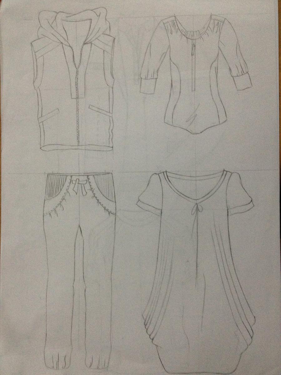 服装班学生手绘设计稿作品集